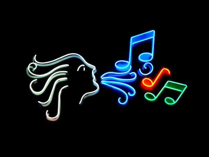 Neon Music Sign by Nevit [Stock.Xchng]